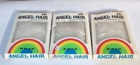 Vintage Christmas Angel Hair Decoration White Lot of 3 Boxes