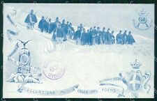Militari Reggimentali 60º Reggimento Fanteria Colle Foens cartolina XF5178