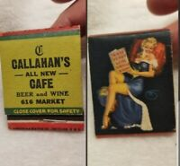 Nice Western Callahan's All New Cafe Beer and Wine Matchbook Scantily Clad Girl