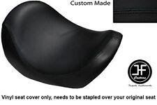 BLACK VINYL CUSTOM FITS HARLEY DAVIDSON V-ROD VRSC 01-09 FRONT SEAT COVER ONLY