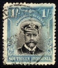 Southern Rhodesia SG 10 Cat £13 1s.6d. Black & Lght blue Fine Used Sea Captain