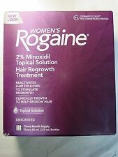 Women's Rogaine 2% Minoxidil Hair Regrowth Treatment 3 Month Supply Exp 2018 New