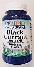 Black Currant Seed Oil 180 Capsules 1,000mg + GLA Gamma Linolenic Acid Fresh!