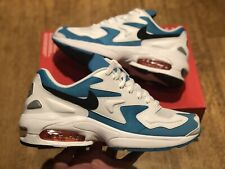 NIKE AIR MAX 2 LIGHT MENS TRAINERS UK 9 EUR 44 US 10 WHITE BLUE NEW