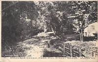 Nunda New York c1910 Postcard Kishequa Creek from Mill Street Bridge