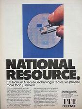 11/86 PUB ITT DEFENSE GTC GALLIUM ARSENIDE TECHNOLOGY CENTER ROANOKE ORIGINAL AD