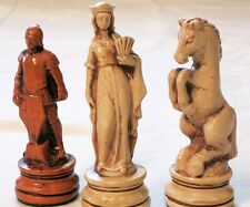 "TALL AUSTRIAN RENAISSANCE CHESS MEN - HAND MADE SET - K=4.5"" (maple/bone) 699"