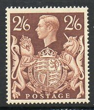 GB GVI 1939 2s6d brown SG476 lightly mounted mint stamp cat £95