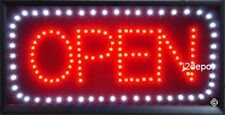 US Seller All letters Animated Led OPEN Sign + Animation on/off Switch + Chain