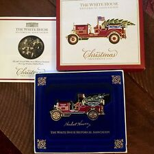 THE WHITE HOUSE FIRE ENGINE HISTORICAL CHRISTMAS ORNAMENT 2016 ~ Made In USA ~