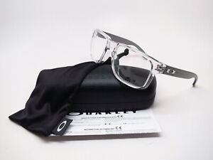 New Authentic Oakley Holbrook RX OX8156-0356 Polished Clear Eyeglasses 56mm