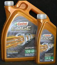 1x5+1x1Liter Castrol EDGE FST TITANIUM 10W-60 Motoröl 10W60 VOLLSYNTHESE Motoröl