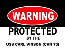 METAL MAGNET Protected By USS Carl Vinson CVN 70 Ship Military MAGNET