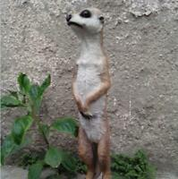 Garden Meerkat Sculpture Large Resin Patio Lawn Yard Indoor Outdoor Decor 20.5""