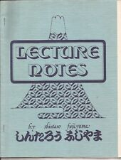 Lecture Notes by Shintaro Fujiyama