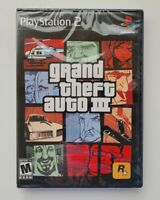 Grand Theft Auto GTA 3 PS2 Playstation 2 Brand New Factory Sealed