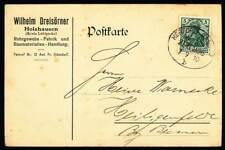647596) DR Germania Bahnpostblg. Herford - Bassum 1910