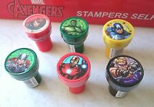 6 pcs Marvel Avengers Self Inking Stamper Pencil Topper Party Favor Bag Fillers