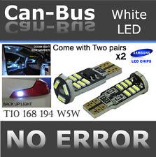 x4 pc T10 Samsung 15 LED Chip Canbus White No Error Plugin Map Light Bulbs F789