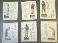 1939 Player GOLF golfing & how to play strokes set 25 cards Tobacco Cigarette