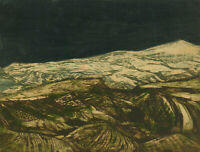 Paul Eagleton - Signed 1962 Etching, Paddy Fields