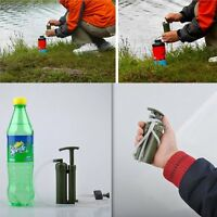 Portable Outdoor Water Filter Purify Pump Outdoor Survival Hiking Camping Lot Y5