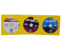 Nintendo Wii Lot Of 3 Video Games Disc Only Just Dance,Just Dance 2 Just Dance 3