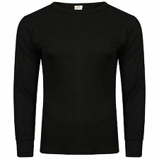 MENS LONG SLEEVE THERMAL VEST UNDERWEAR BOYS SKI WINTER BRUSHED HEAT TRAP TOP