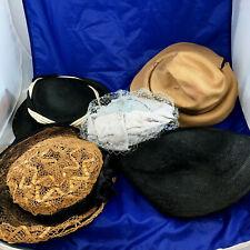 Lot Of Antique Vintage Ladies Hats.