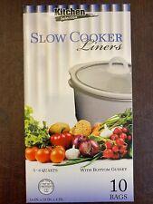 Kitchen Collection Crock Pot Liner Slow Cooker - 5-6 Quart - 10 Bags -