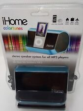 iHome Colortunes Stereo Speaker System for all MP3 Players # iHM10 Sealed New