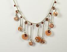 swarovski elements Collier corazón de cuero marrón Sueño Pilgrim cadena dorados