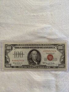 SERIES 1966 $100 LEGAL TENDER UNITED STATES NOTE GRANAHAN/FOWLER