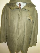 "GERMAN ARMY CLASSIC PARKA Military Combat Jacket Coat Olive L 44-46"" Euro 54-56"