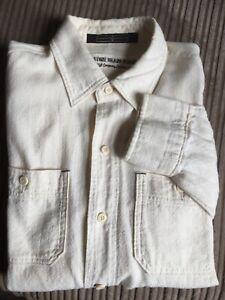 Men's Stone Island Denims ivory long sleeve shirt M size (used)