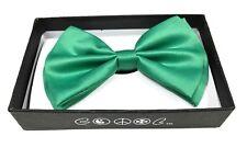 Dark Green Men Women Bowtie Classic Clip-On Neck-wear Tuxedo Adjustable
