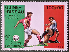 Stamp Guinea-Bissau 1989 100.00P Italia '90 World Cup Used
