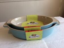 Sky Blue Le Creuset Stoneware Bakeware Set Oval Baking Dishes New
