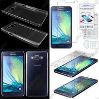 Coque Housse Etui Rigide Slim Transparent Galaxy A5 A500F +Film Verre Trempé