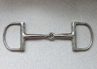 D RING SINGLE JOINT SNAFFLE HORSE BIT 5 TO 6 INCH STAINLESS STEEL ENGLISH MADE