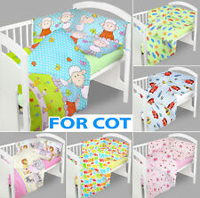 BABY BEDDING SET 120x90 COT QUILT DUVET PILLOW CASE COVER NURSERY BED NEW DESIGN