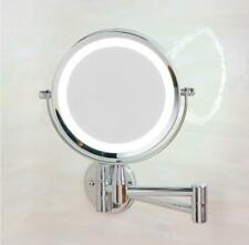 Led Makeup Mirror With LED Light Folding Wall Mount Vanity Mirror 10x Magnifying
