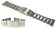 Cinturino per olorogio oyster acciaio inox ansa dritta 20mm deployante a48 watch