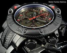 Invicta 50mm Subaqua Poseidon Quartz Chronograph Black Red Accent Bracelet Watch
