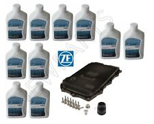 For BMW 8HP AT Service Kit Oil Pan & Filter Kit Gasket Plugs 10L Fluid ATF ZF