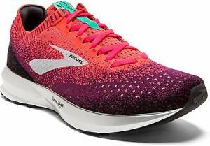 Brooks Womens Levitate 2 Running Shoes, Pink/Black/Aqua