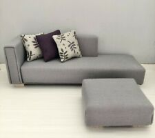 1:12 Scale Chaise with Footstool for Dolls House