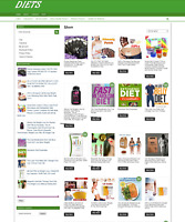 DIETS WEBSITE WITH ONE YEARS HOSTING - NEW DOMAIN - EASY TO RUN