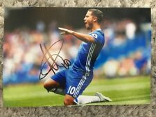 CHELSEA EDEN HAZARD HAND SIGNED 12X8 PHOTO