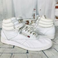 Reebox Classic Freestyle HI High-Top Sneakers Shoes White  Women's Size 6.5  ❤️